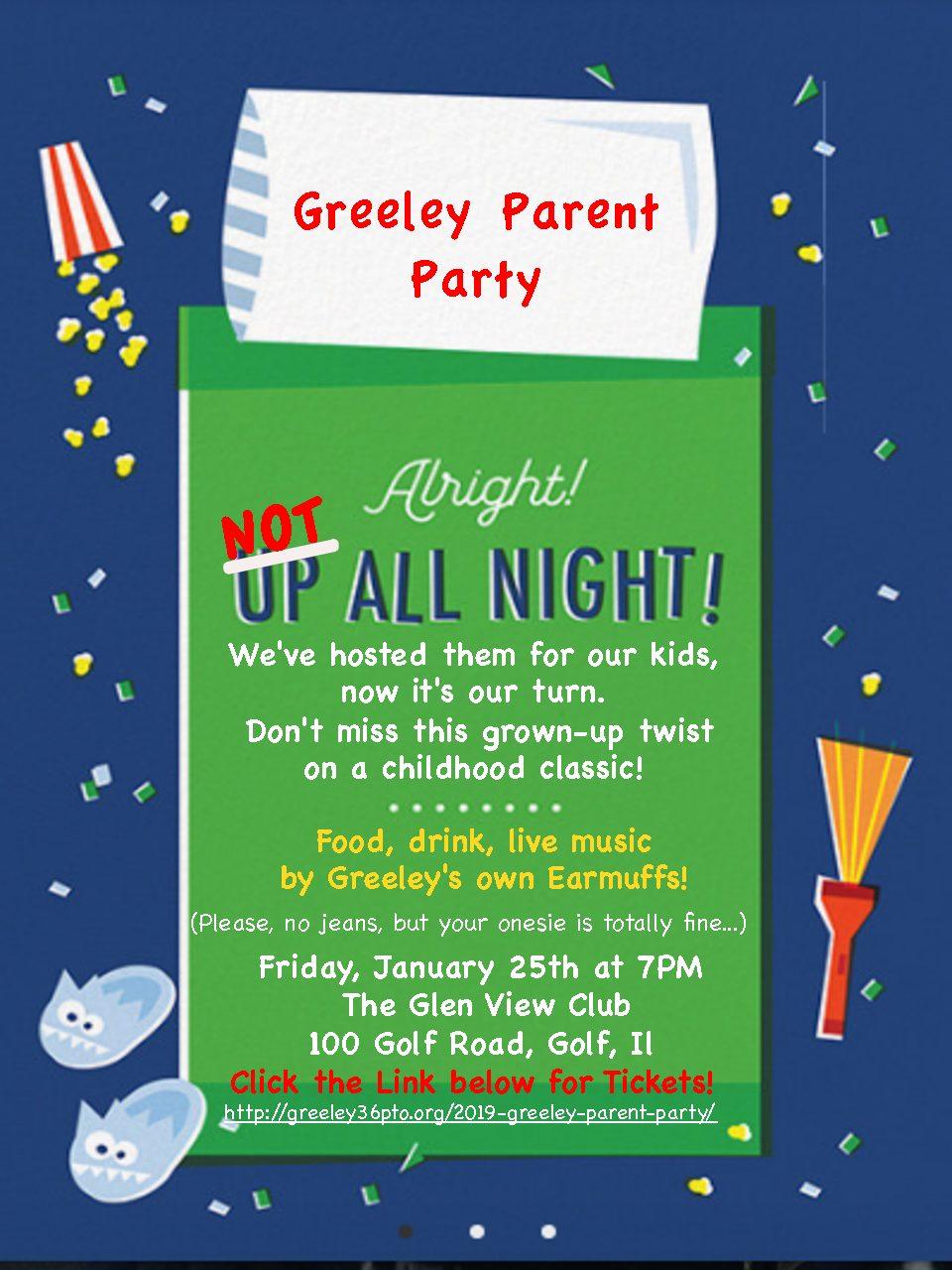 2019 Greeley Sleep Under Parent Party